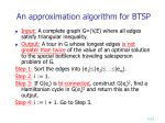 an approximation algorithm for btsp