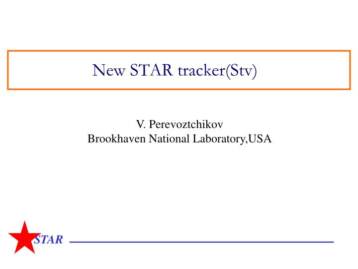 new star tracker stv n.