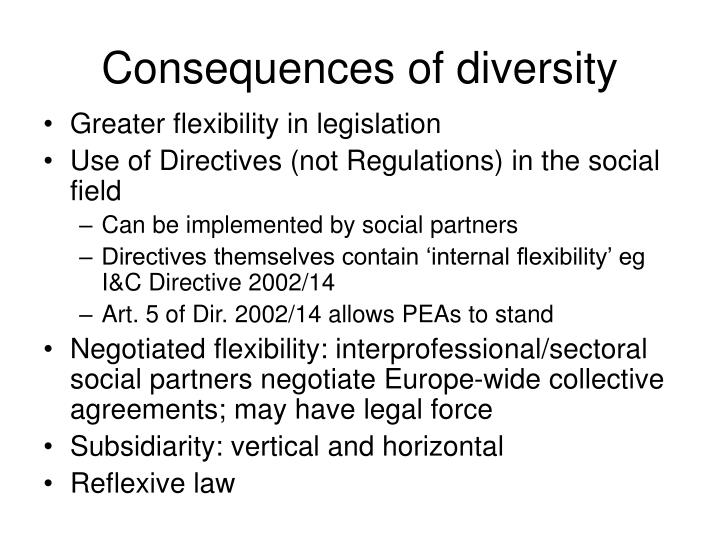 Consequences of diversity