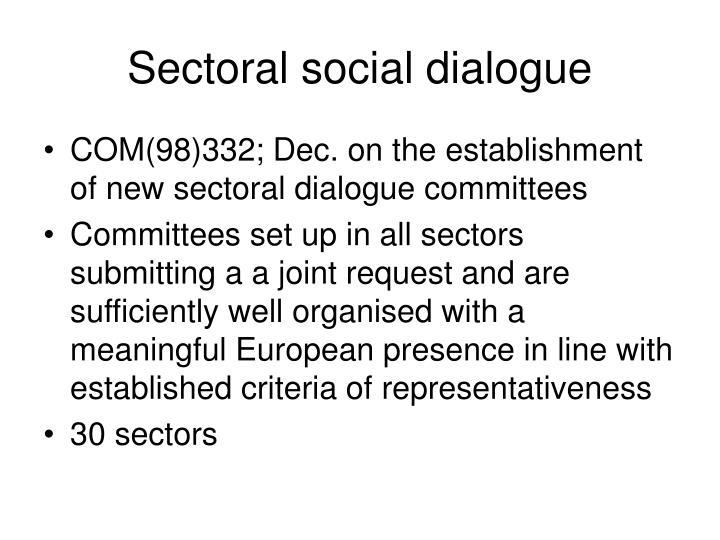 Sectoral social dialogue