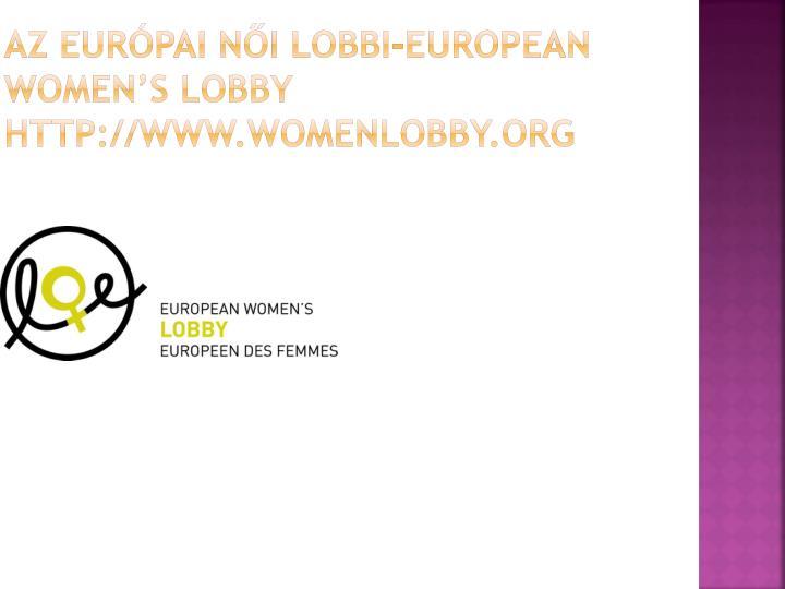 Az eur pai n i lobbi european women s lobby http www womenlobby org