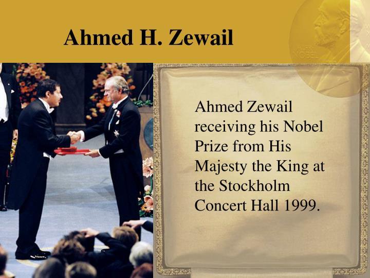nobel prize ahmed zewail essay