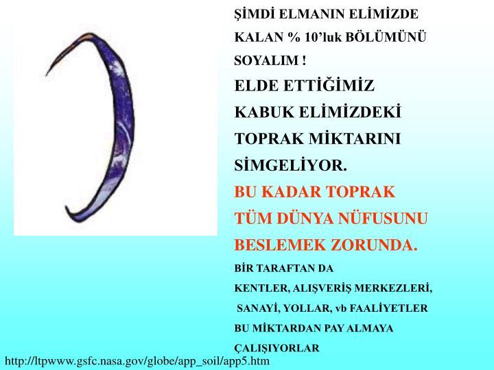 ŞİMDİ ELMANIN ELİMİZDE