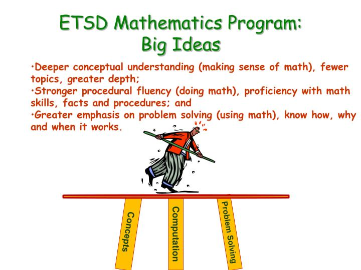 etsd mathematics program big ideas n.