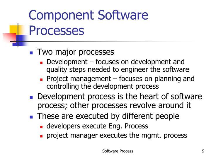 Component Software Processes