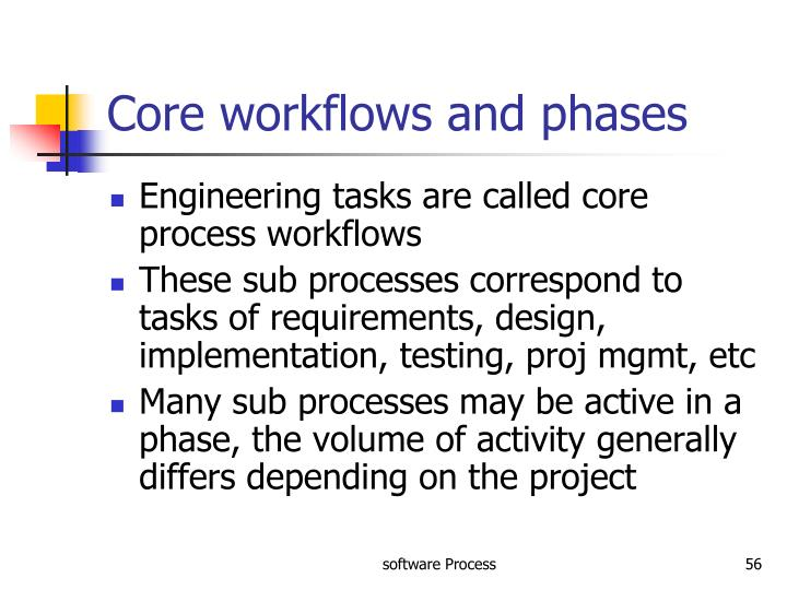 Core workflows and phases