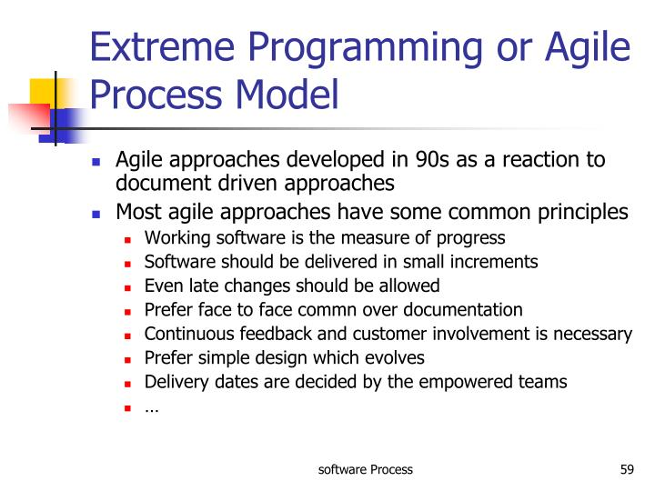 Extreme Programming or Agile Process Model