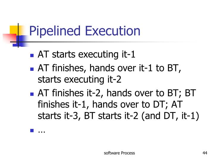 Pipelined Execution
