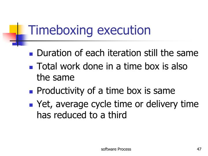 Timeboxing execution