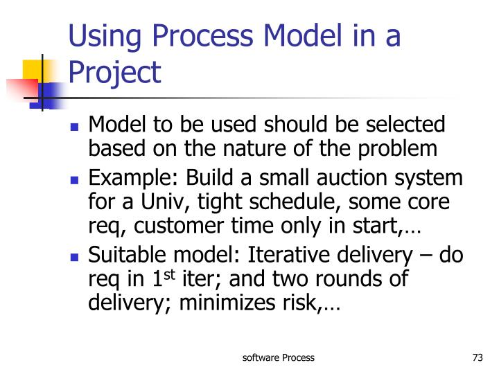 Using Process Model in a Project