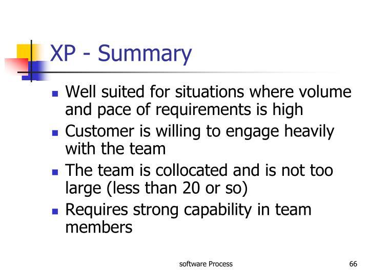 XP - Summary