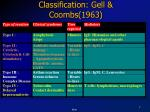 classification gell coombs 1963