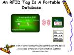 an rfid tag is a portable database