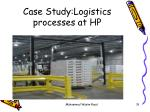 case study logistics processes at hp