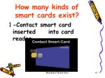 how many kinds of smart cards exist