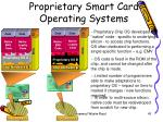 proprietary smart card operating systems