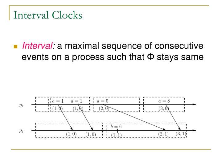 Interval Clocks