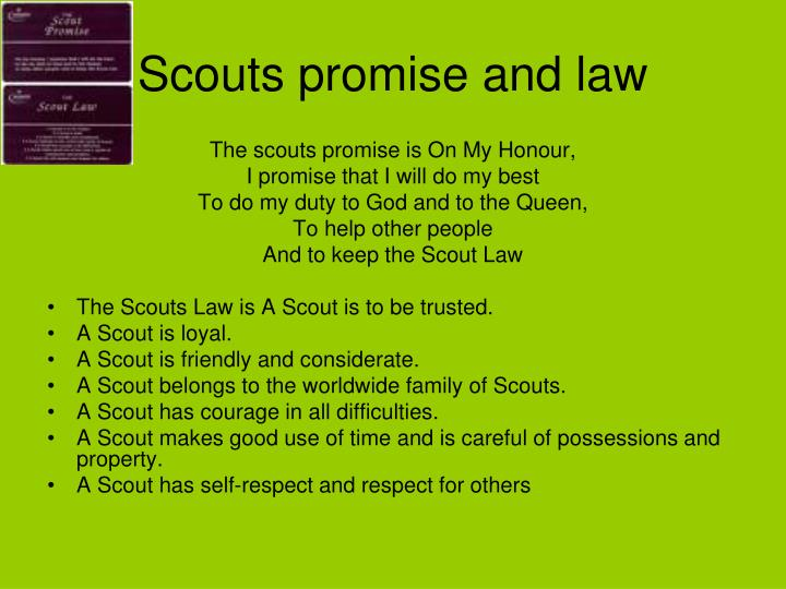 Scouts promise and law