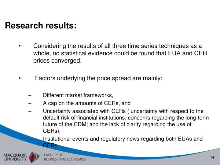 Research results:
