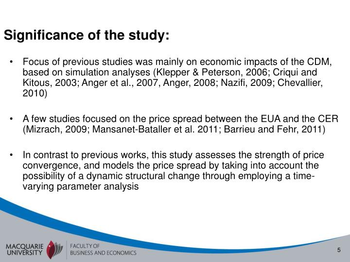 Significance of the study: