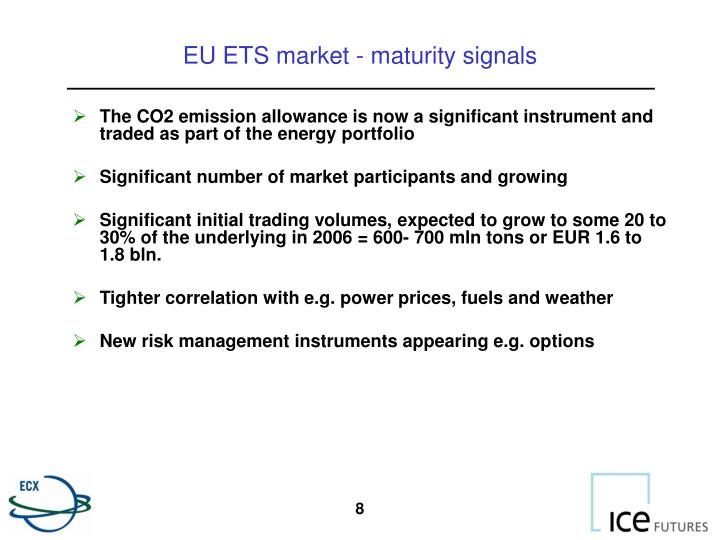 eu ets impact on electricity market The eu emissions trading scheme (ets) is an economic response to the  imperative of reducing co2 emissions decisions in a market economy are in  large.
