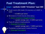 fuel treatment plan target synthetic clean orimulsion type cws