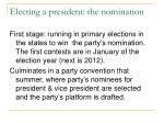 electing a president the nomination