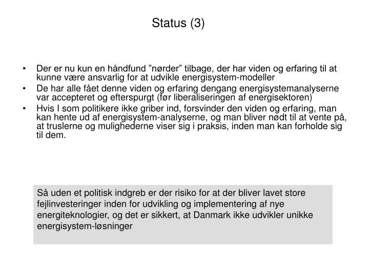 Status (3)