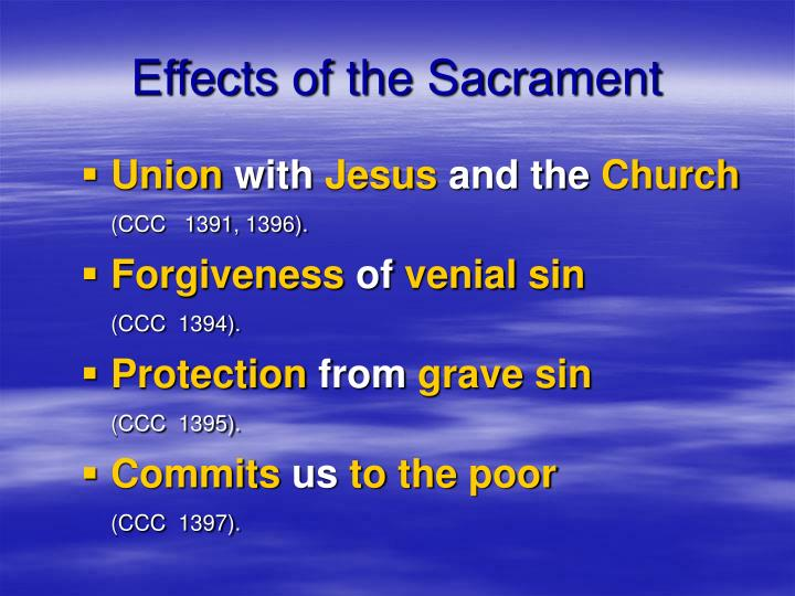 Effects of the Sacrament