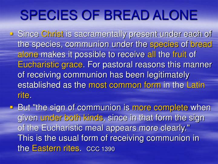 SPECIES OF BREAD ALONE