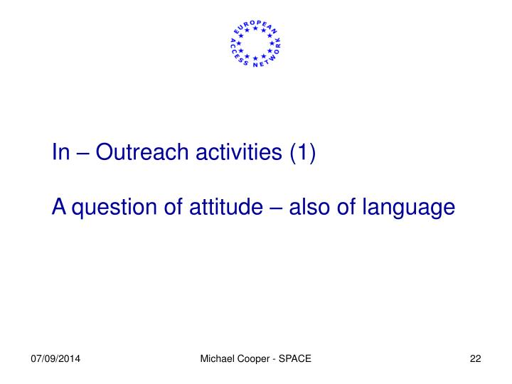 In – Outreach activities (1)