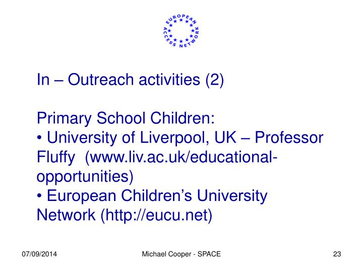 In – Outreach activities (2)