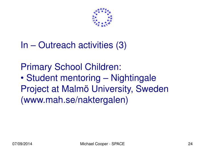 In – Outreach activities (3)