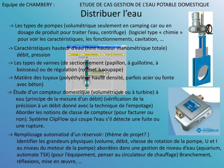 ppt equipe de chambery etude de cas gestion de l eau. Black Bedroom Furniture Sets. Home Design Ideas