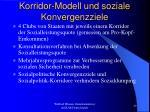 korridor modell und soziale konvergenzziele
