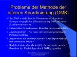 probleme der methode der offenen koordinierung omk