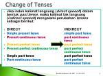 change of tenses