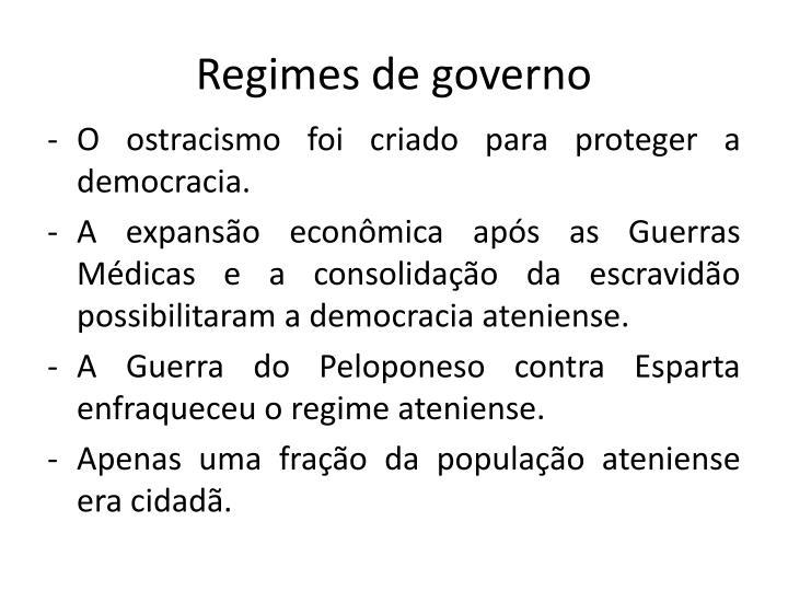 Regimes de governo