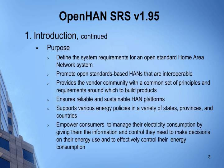 Openhan srs v1 951