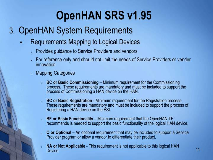 OpenHAN SRS v1.95