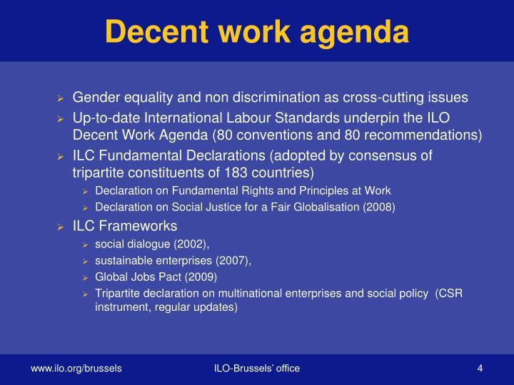 Decent work agenda