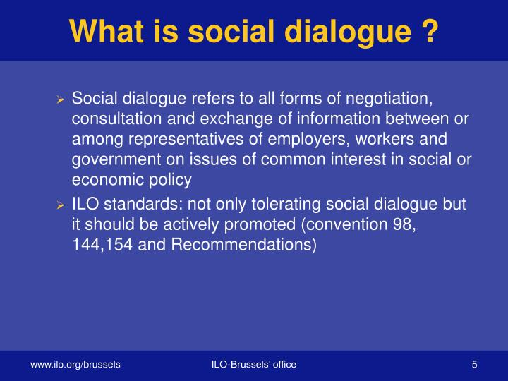 What is social dialogue ?