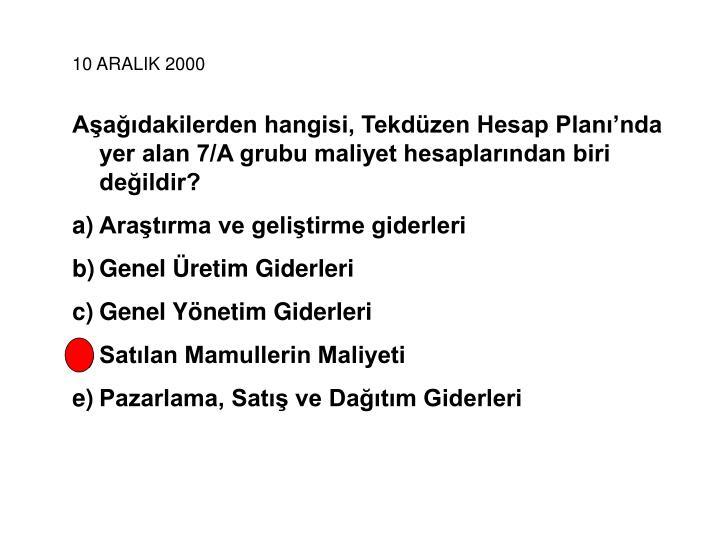 10 ARALIK 2000