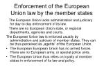 enforcement of the european union law by the member states