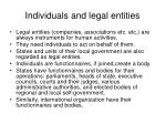 individuals and legal entities
