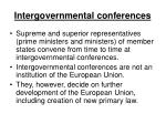 intergovernmental conferences