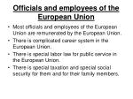 officials and employees of the european union