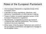 roles of the european parliament