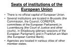 seats of institutions of the european union