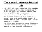 the council composition and role